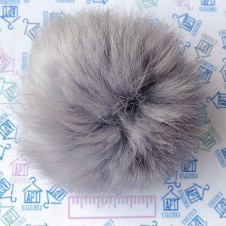Помпон из меха кролика Серый