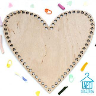 Деревянная заготовка Сердце 26*24 см
