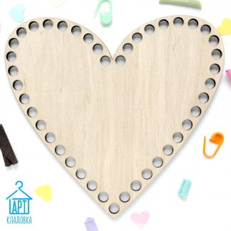 Деревянная заготовка Сердце 18*16 см